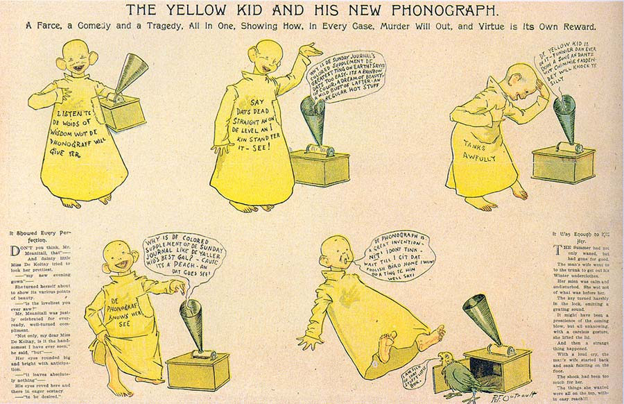 The yellow kid and his new phonograph quot